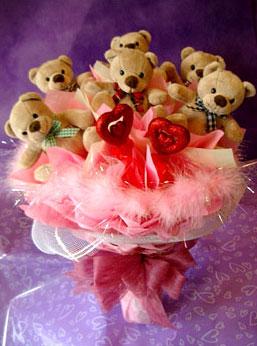 11 adet ayiciktan buket ayicik demeti  Ayı demeti ayıcık buketi teddy buket