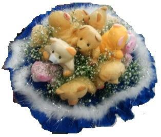 12 adet peluş ayıdan ayı buketi