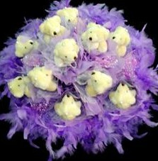 11 adet pelus ayicik buketi  Sevgili için en güzel hediye