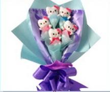 5 adet ayiciktan ayi buketi  Bebek doğum hediyeleri