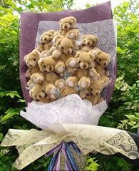 15 adet pelus ayi buketi  Ayı buket Yılbaşı hediyesi